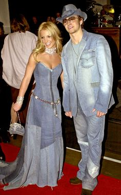 Britney Spears, Justin Timberlake. Never forget that this happened. Don't let the denim fad get to this  point again...