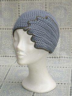 crocheted hat 20s style crochet hat #vintagecrochet
