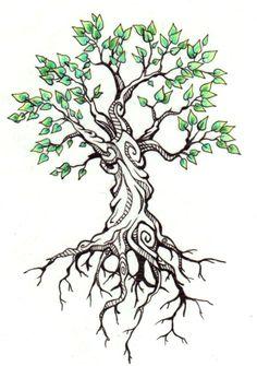 Trees Tattoo Design Family Tree Tattoo Roots Tattoo Tree Of Life Tattoo Life, Arm Tattoo, Sleeve Tattoos, Ankle Tattoo, Trendy Tattoos, New Tattoos, Cool Tattoos, Tatoos, Tree Tattoo Designs