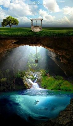 Red Velvet Voyages into the dream scapes and magical places, evoking peace and serenity. Sanctuaries of love and enlightenment.  Lovely underground secret world.