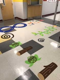 Leap Frog and Logs for Floor Path, Sensory Path Decals, Sensory Path Elements for Schools, Home, Day Cares and Hospitals Floor Decal, Floor Stickers, Teaching Kids, Kids Learning, Games For Kids, Activities For Kids, Sensory Pathways, Field Day Games, Infant Classroom