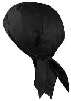 994d45ac944 Black Doo Rag with SWEATBAND Durag Motorcycle Skull Cap Cotton MADE IN THE  USA