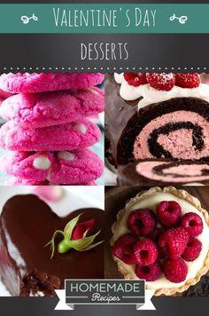 10 To-Die-For Valentine's Day Desserts | https://homemaderecipes.com/valentines-day-desserts/