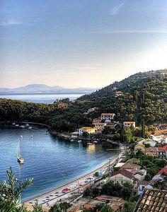Corfu (/kɔːrˈfuː, -fjuː/; Greek: Κέρκυρα, Kérkyra [ˈcercira]; Ancient Greek: Κέρκυρα or Κόρκυρα; Latin: Corcyra; Italian: Corfù) is a Greek island in the Ionian Sea.