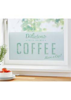 """Fenster-Sichtschutzfolie """"Coffee"""", bpc living, hellgrau/matt-weiß"""