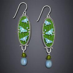 Blue Lunas Earrings - bijou graphique