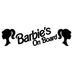 Barbie's On Board Vinyl Decal Sticker. Starting at: $2.50