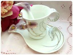 Franz inspired cup, saucer and spoon
