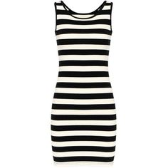 Yoins Yoins Stripe Mini Dress ($11) ❤ liked on Polyvore featuring dresses, black, ribbed bodycon dress, striped dress, body con mini dress, short bodycon dresses and scoop-neck dresses