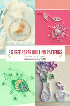 If you& new to quilling, you only need to learn how to make a few basic coils in order to form the foundations for most of these paper quilling projects.Learn how to quill paper with these free paper quilling patterns. Embellish all of your crafts with be Quilling Instructions, Paper Quilling Tutorial, Paper Quilling Flowers, Paper Quilling Designs, Quilling Ideas, Quilled Roses, Arte Quilling, Origami And Quilling, Quilling Paper Craft