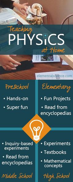 Tips for teaching physics at home from preschool to high school at elementalscience.com