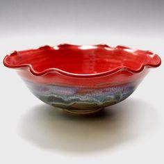 Brilliance series wheel thrown bowl #pottery #handmade