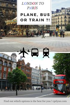 Travelling from London to Paris - vice versa. Find out which options is the best for you !  #travel #london #paris