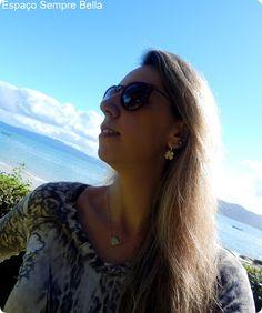Espaço Sempre Bella: #Resenha - Brinco Trevo 4 Folhas e Gargantilha Pin...