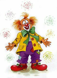 Füzesi Zsuzsa rajza (With images) Le Clown, Circus Clown, Creepy Clown, Image Cirque, Theme Carnaval, Clown Balloons, Clown Images, Clown Crafts, Fair Theme