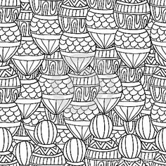 Seamless wave hand drawn pattern, waves background