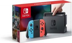 Nintendo Switch Console with Neon Blue & Red Joy-Con The newest Nintendo console. Enjoy gaming on the go with Nintendo Switch's capacitive touchscreen. Play with family and friends on your TV while Switch is resting in the dock. Nintendo Switch Game Console, Buy Nintendo Switch, Nintendo Console, Nintendo Switch System, Video Game Console, Mario Kart, Wii U, Ver Tv Online Gratis, Playstation