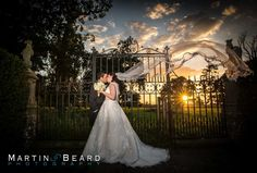Hengrave Hall sunset and veil by Martin Beard Photography