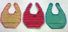 Design by Dalkær: Crochet Bib Crochet Bib, Chrochet, Knitting For Kids, Baby Knitting Patterns, Diy Baby, Kids And Parenting, Crochet Projects, Baby Kids, Design