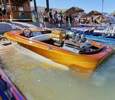 Nice Old School Hot Rod Ski Boat