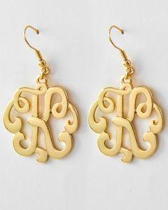 Fashion Jewelry Initial K Earrings by brooklynbelleboutiq on Etsy, $5.00