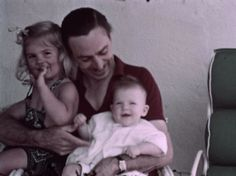 Walt Disney with his daughters