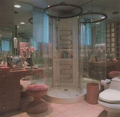 "palmandlaser: ""From Bath Design "" aesthetic bedroom killa kolbz 80s Interior Design, 1980s Interior, Interior Decorating, Aesthetic Room Decor, 70s Aesthetic, Dream Home Design, Retro Home Decor, Bath Design, Dream Rooms"