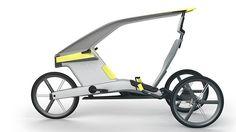Kötü hava koşulları için tasarlanmış konsept bisiklet.