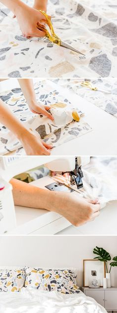 DIY pillowcases project. Click through for the tutorial. #diy #pillows #bedroom