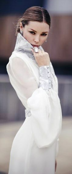 The Bridal Show:  Weddingdress by State of Grace.   Gorgeous sleeve!