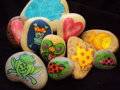 Story stones. Make these and encourage your child's creative imagination. They can use them for role play and making up stories and games.