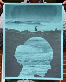 "Beautiful beautiful beautiful hand silk-screened poster. ""Land Bridge Silhouette"" Art Print by perfectlaughter on Etsy"