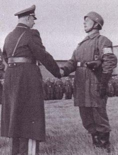 Willy Rohrbach(DKiG 1944) shakes Student's hand 1939.