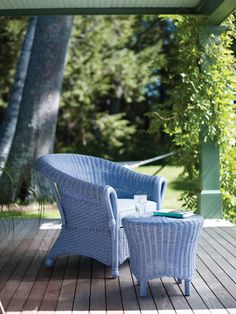 Blue wicker on the veranda - very appealing   (tinywhitedaisies)