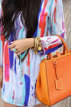 colored tunic.