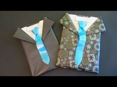 Tutorial: Envoltorio de regalo para caballero. Gift wrapping for men - YouTube