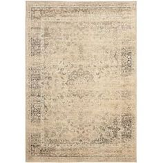 """Add a pop of pattern to your living room or den with this loomed art silk rug, showcasing a distressed Persian-inspired motif in a warm beige palette.    Product: RugConstruction Material: Art silkColor: Warm beige  Features: Power-loomedMade in India  Pile Height: 0.25""""   Note: Please be aware that actual colors may vary from those shown on your screen. Accent rugs may also not show the entire pattern that the corresponding area rugs have. Cleaning and Care: Professional cleaning ..."""