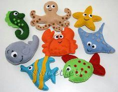 felt sea creatures, craft, quietbook, quiet book, sea animal cookies
