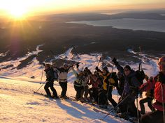 Are you looking for a sunset? Ski Touring, Hiking Tours, In Patagonia, Active Volcano, Travel Activities, Best Sites, Chile, Skiing, Adventure