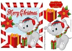 Little elephant with christmas presents on Craftsuprint - View Now!