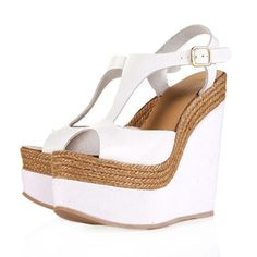 Topshop Whamm Espadrille Leather Wedges