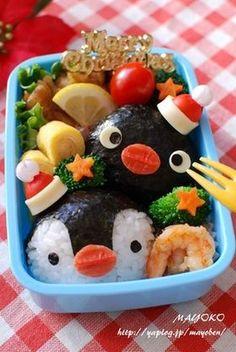 Pingu Lunck Box Christmas Bento