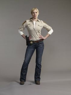 Katee Sackhoff in Longmire - I'm not sure about the show yet after one episode, but she was good in it.