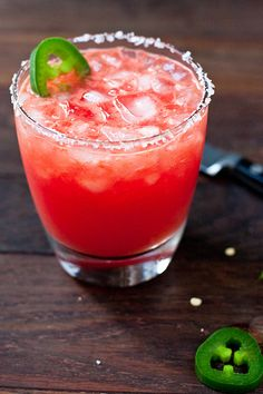 Spicy Jalapeño & Watermelon Margarita