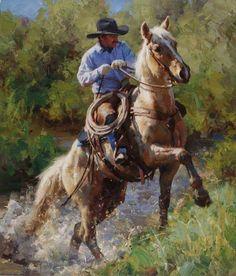 The cowboy way Cowboy Horse, Cowboy Art, Cowboy Pictures, Ecole Art, West Art, Horse Drawings, Le Far West, Equine Art, Country Art