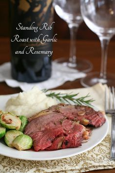 Standing Rib Roast with Rosemary and Garlic - such a fantastic holiday meal and easy to cook too. This grassfed roast practically cooked itself!