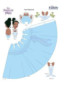14 Disney Princess 3D Paper Doll (Printable)