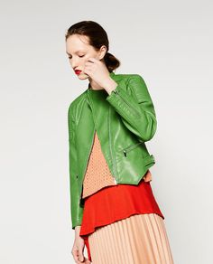 Image 8 of FAUX LEATHER JACKET from Zara