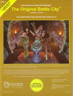 """rpgcovers: """" AD&D: RJK1 The Original Bottle City ~ Pied Piper Publishing…"""