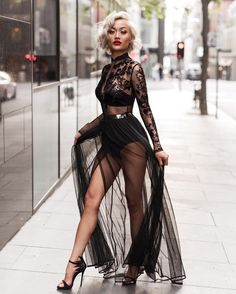 Sheer delight on top Australian fashion blogger Micah gianelli